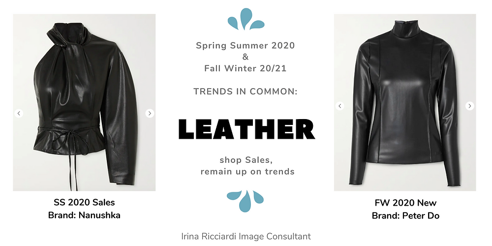 leather fashion trend: spring summer 20 and fall winter 21