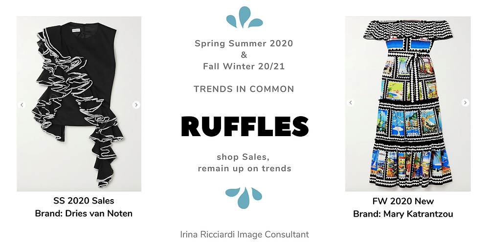 ruffles fashion trend: spring summer 20 and fall winter 21