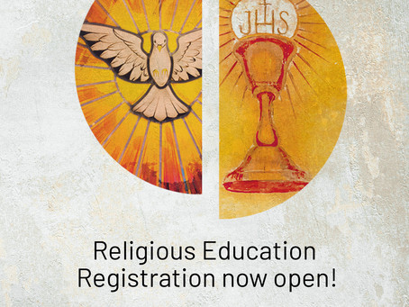 Religious Education Registrations now open!