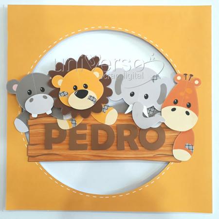 Porta Maternidade Animais Patchwork MARC