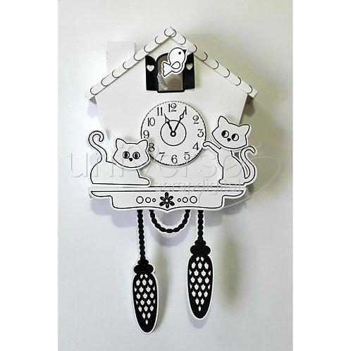 Relógio com Gato