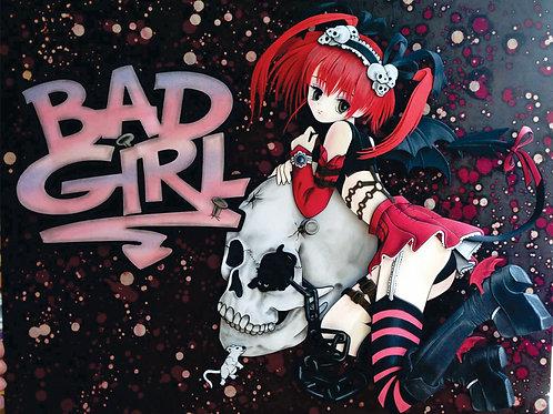 Quadro Escultura em Papel Bad Girl