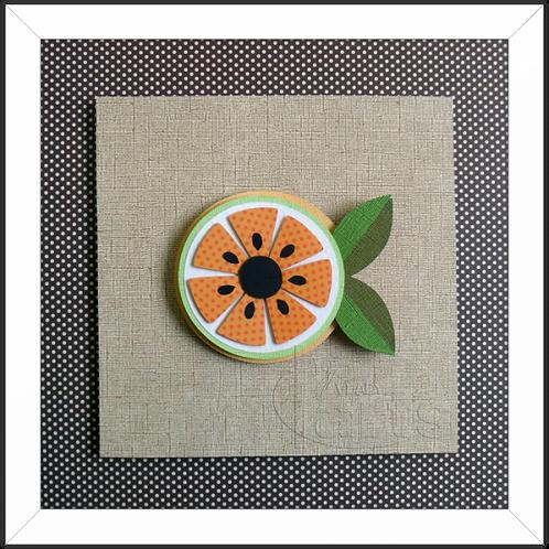 Quadro Decorativo Fruta Laranja