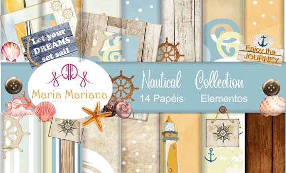 Papéis Digitais - Nautical Collection