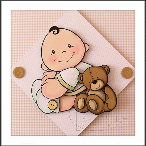 Porta Maternidade Bebê com Urso