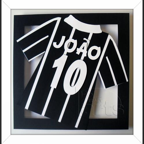 Quadro Decoração Futebol Camisa Corinthians