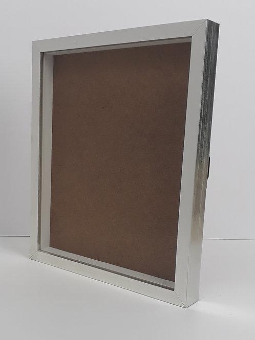 Moldura Retangular Prata