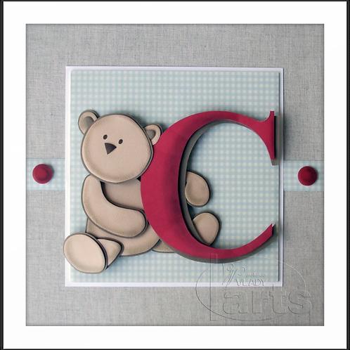 Porta Maternidade Urso com Inicial