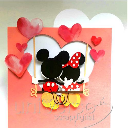 Namorados Mickey e Minnie no Balanço - Uso Comercial