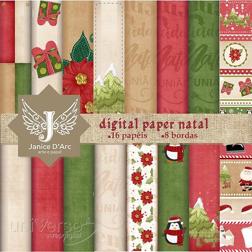 Kit Digital Paper Natal - Uso Comercial