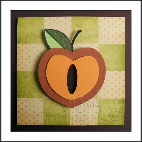 Quadro Decorativo Fruta Pessego