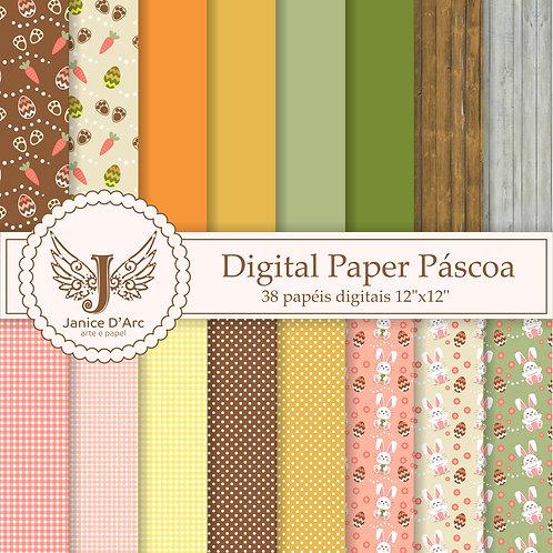 Kit Digital Paper Páscoa - Uso Comercial
