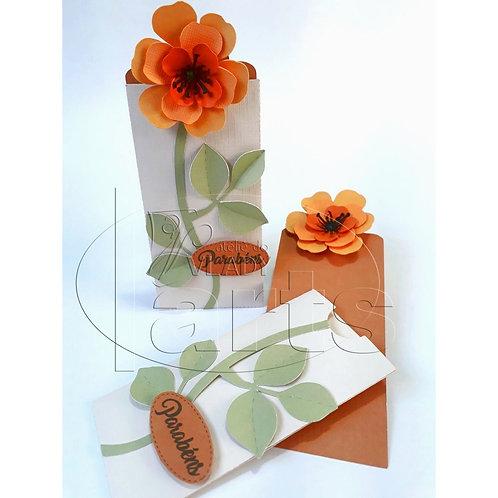 Cartão Envelope Flor