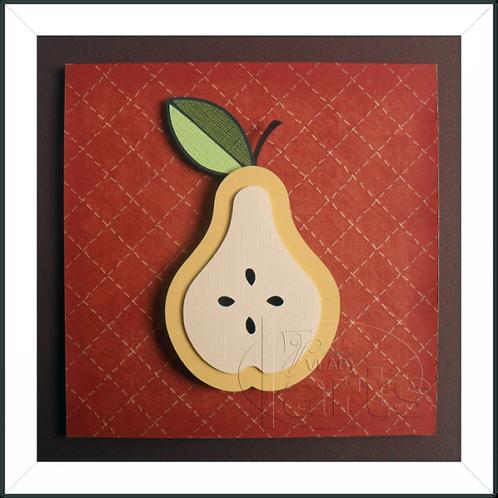 Quadro Decorativo Fruta Pera