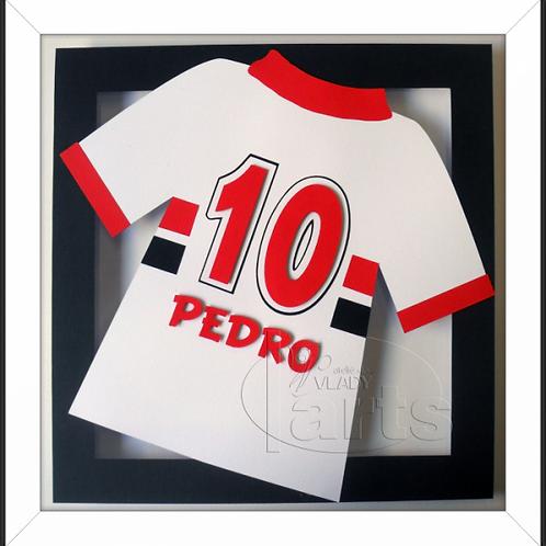Quadro Decoração Futebol Camisa São Paulo