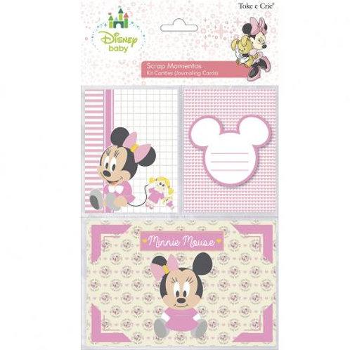 Kit Cartões Scrap Momentos - Minnie Bebê