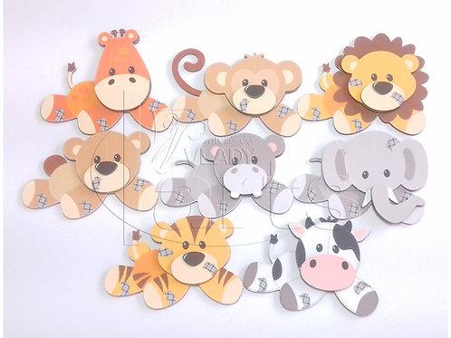 Conjunto Animais Patchwork