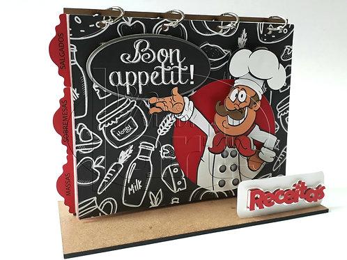 Porta-Receitas Cozinheiro- Kit Faça Você Mesmo