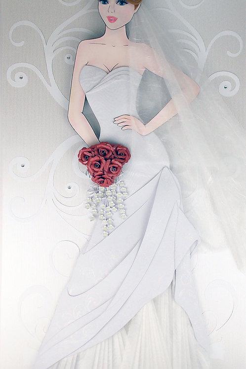 Escultura em Papel Sem Moldura Moda Noiva