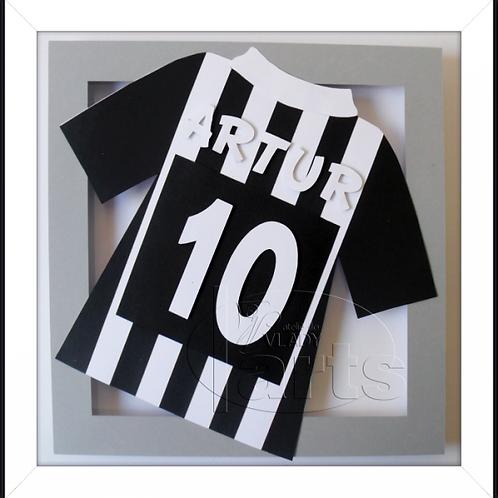 Quadro Decoração Futebol Camisa Santos