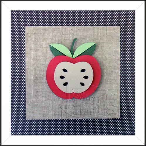 Quadro Decorativo Fruta Maçã