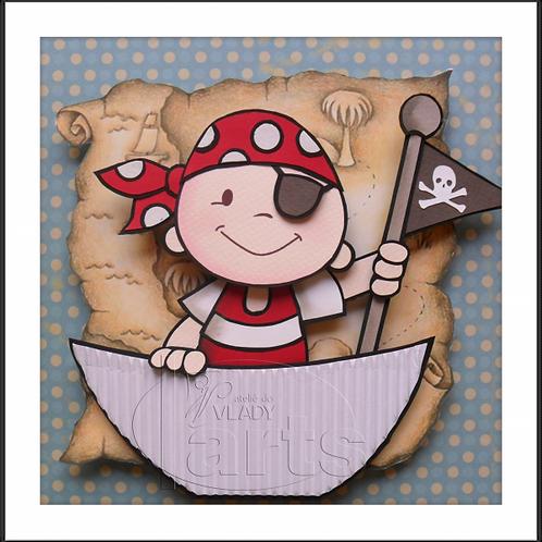 Porta Maternidade Pirata no Barco