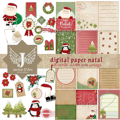 Die Cuts, Cards e Tags Paper Natal - Uso Comercial