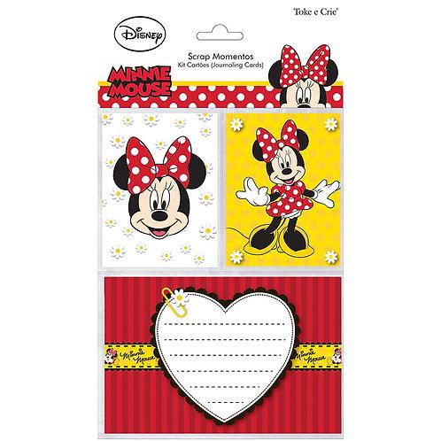Kit Cartões Scrap Momentos - Minnie