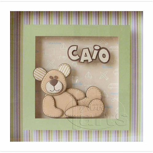 Porta Maternidade Urso Sentado Menino