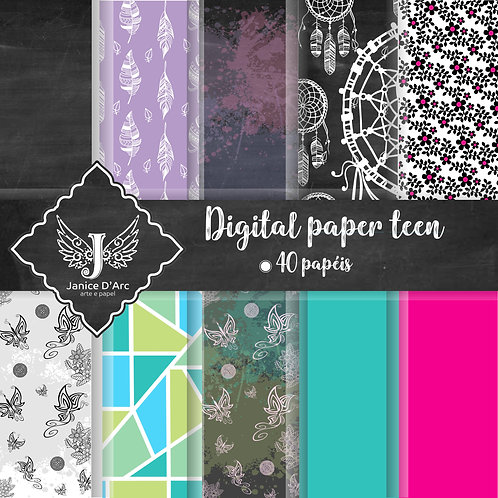 Kit Digital Paper Teen - Uso Comercial