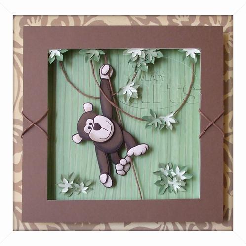 Porta Maternidade Selva Macaco