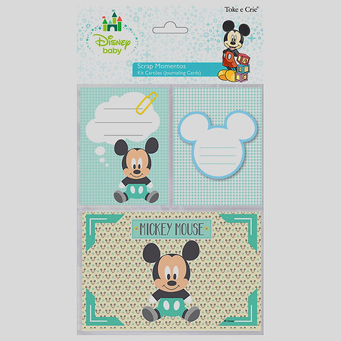 Kit Cartões Scrap Momentos - Mickey Bebê