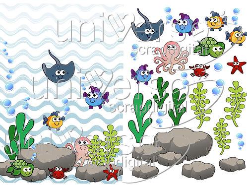 Sea World Babies Cliparts - Uso Comercial