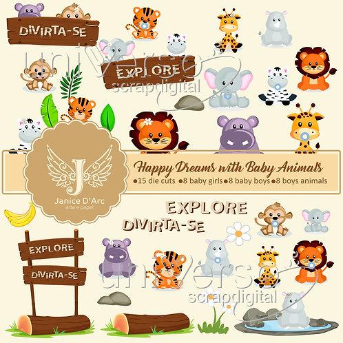 Die Cuts Happy Dreams With Baby Animals