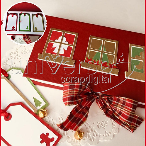Caixa Para Tags - Natal