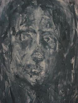 Self Portrait Gouach Painting