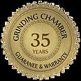 35 Years Grinding chamber guarantee and