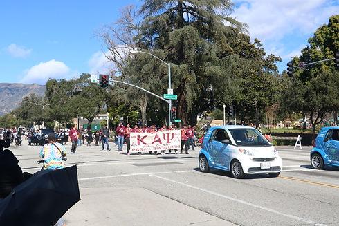 Pasadena black history parade and local chapter of Kappa Alpha Psi Fraternity