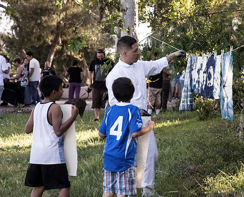 ArtCenter students create art installations and nature-themed interactions With high schoolers from the Ramona Gardens public housing development to create an art-filled event at Henry Alvarez Park in Los Angeles