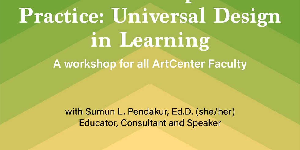 From Principle to Practice: Universal Design in Learning