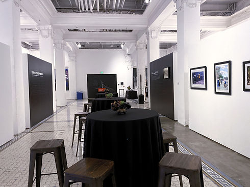 """the Inaugural  Black Alumni Showcase """"90/300"""" at ArtCenter DTLA gallery space."""