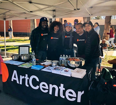 ArtCenter Dei and Admissions team at 2018 Pasadena Black History Parade Festival