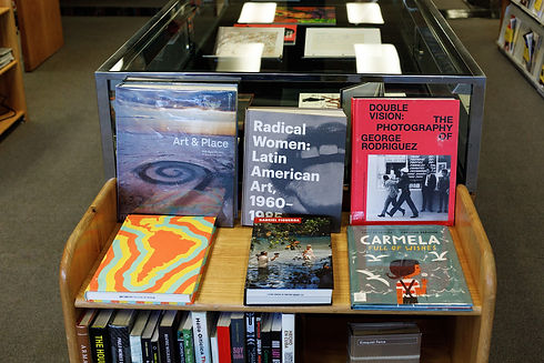 Latinx Heritage Month book selection at ArtCenter Library
