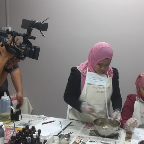 Shooting for Saffiya for the soapmaking episode