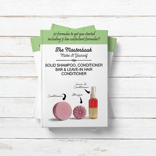 The MASTERBOOK Solid Shampoo, Conditioner Bar and Leave-In Conditioner Formulas