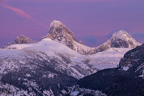 Driggs Teton Purple Sunset