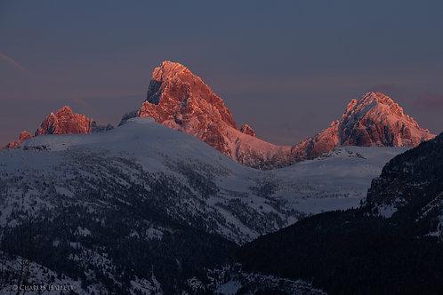 Driggs Teton Alpenglow Sunset