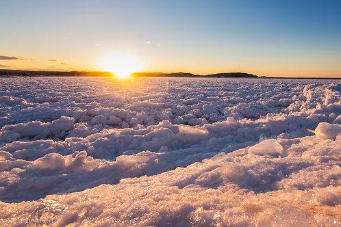 Presque Ice Sunset