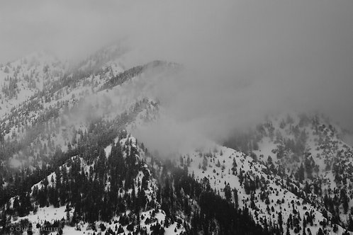 Cloudy Mountain Ridge