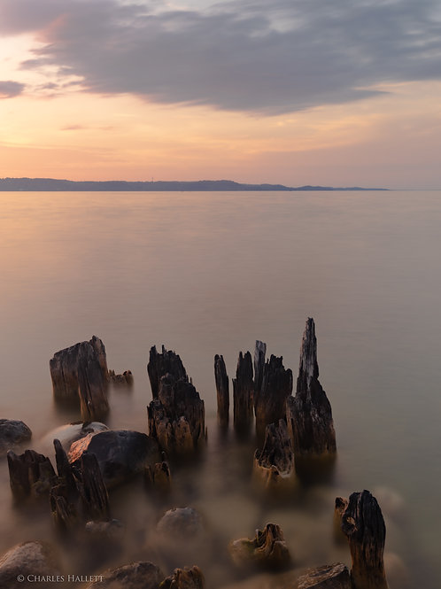 Warm Sunset on the Rocks
